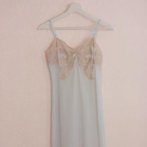 Light Blue Vintage Lace Slip